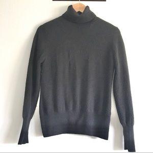 Neiman Marcus black cashmere turtleneck sweater
